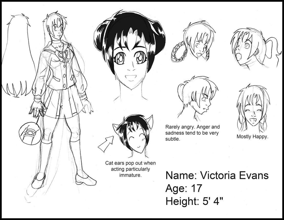 Volume 1 Preview: Victoria Character Sheet